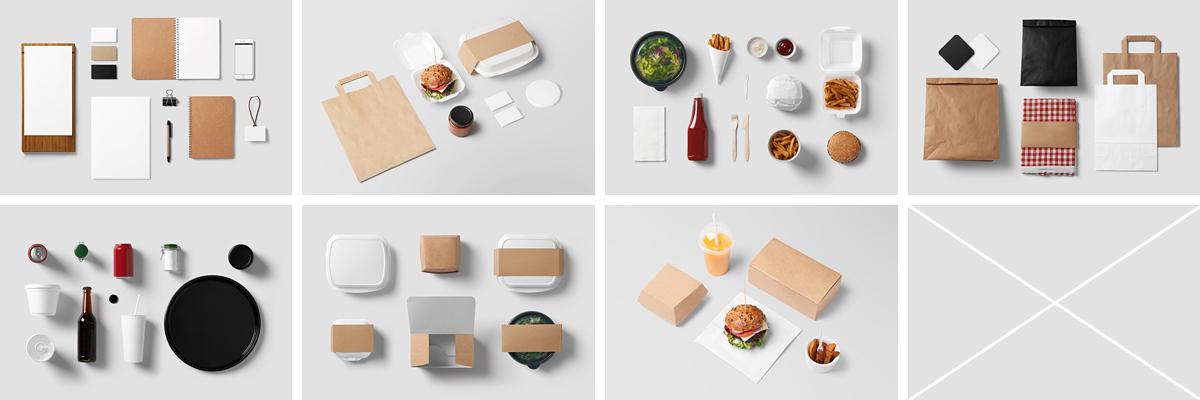 Burger Bar Stationery Mockup On Behance