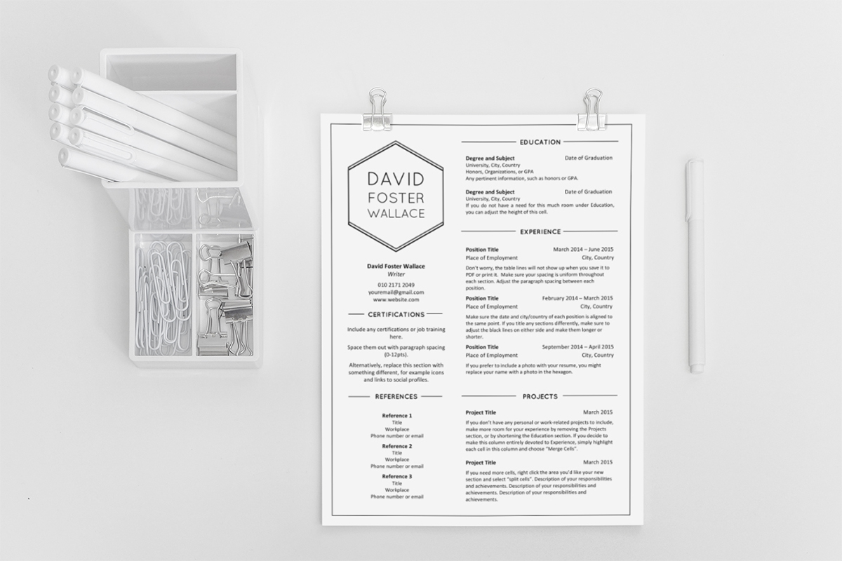 resume templates 2016 on behance