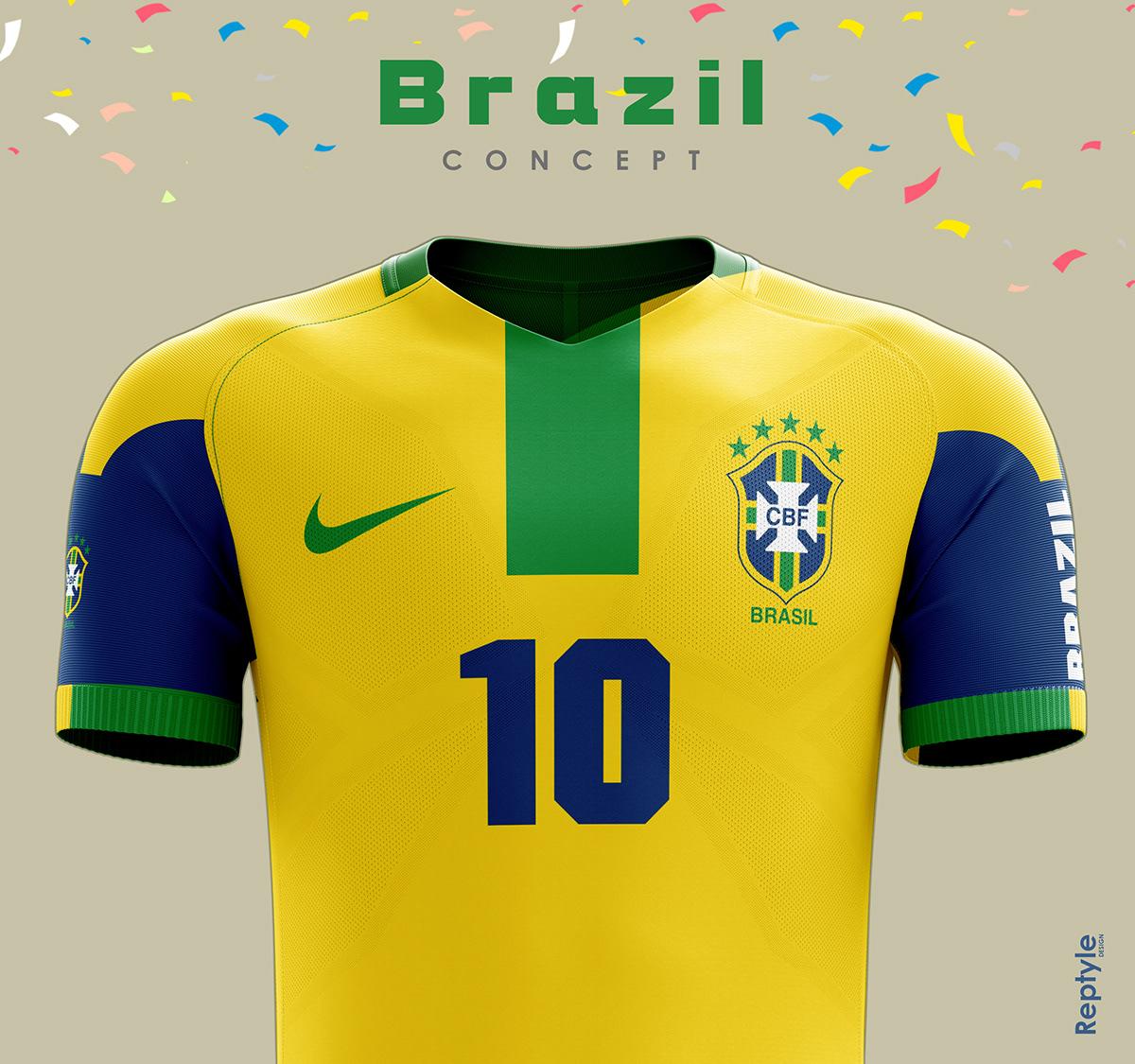 Brazil soccer kit concept on Behance 45346a267
