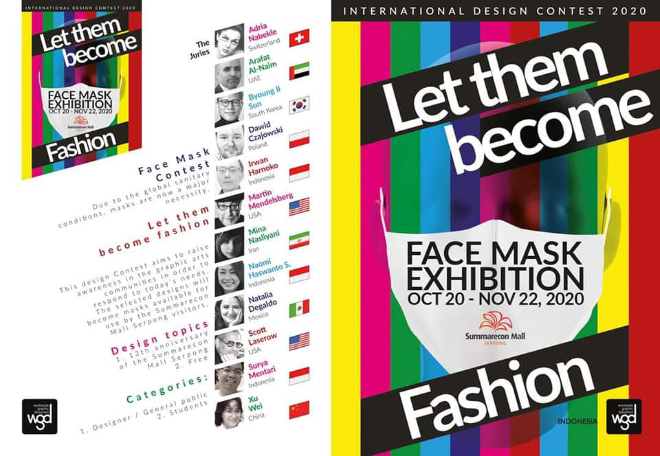 COVid,design,Francesco Mazzenga,graphic design ,indonesia exhibition,Let them become Fashion,mask