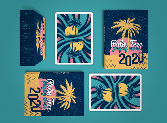 Card Deck cards colorful Palm Tree Playing Cards vibrant
