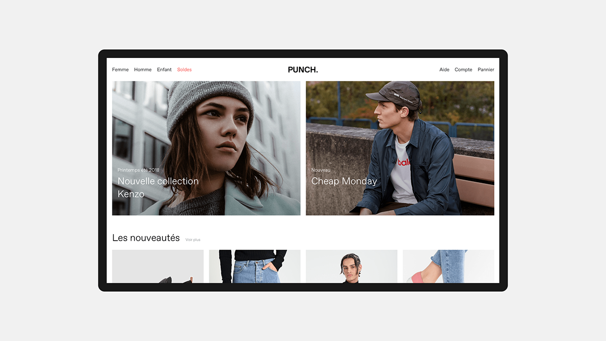 Punch on Behance