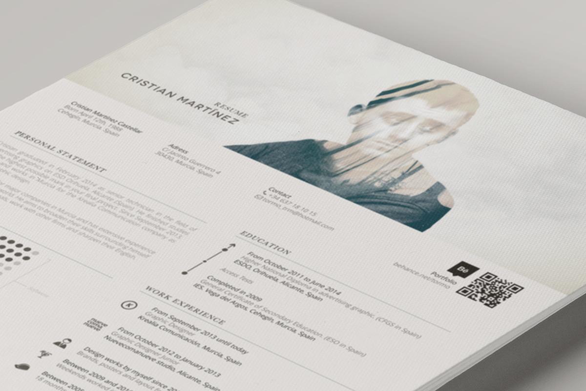 self Promotion curriculum Vitae Resume professional own skills CV