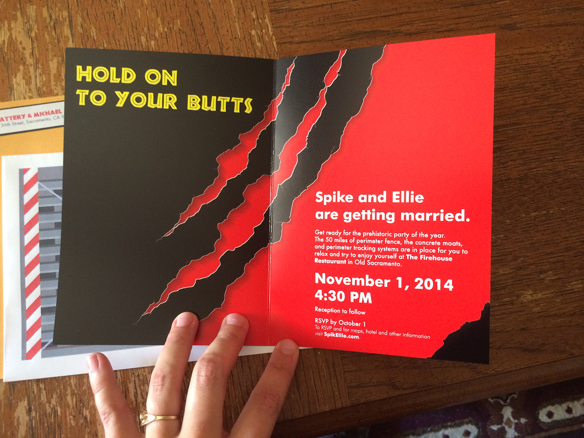 jurassic park wedding invitations on behance