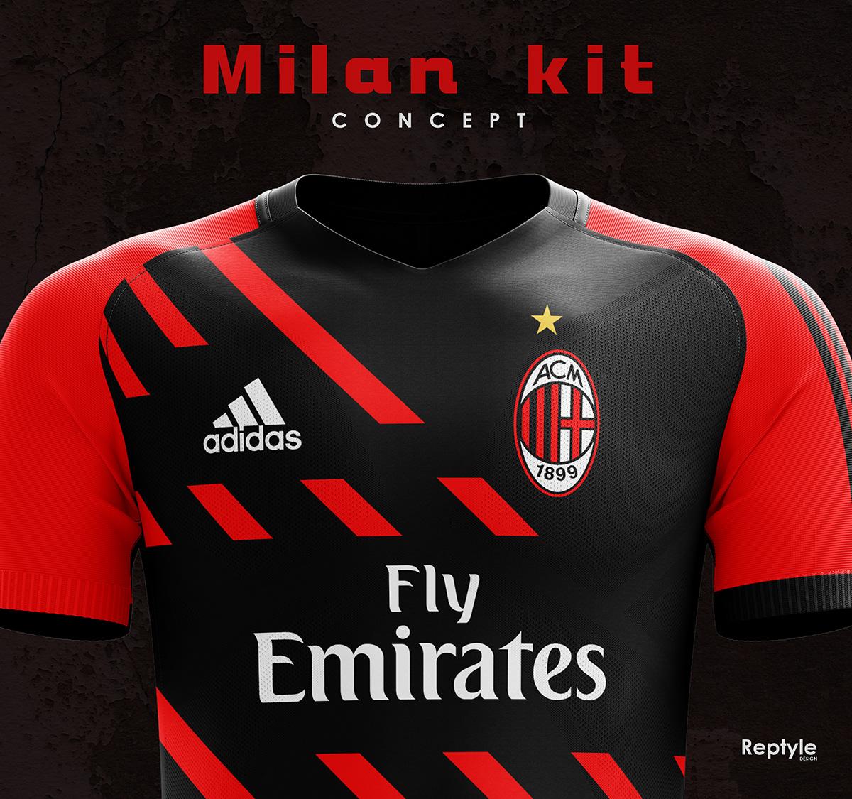 uk availability 7c207 dbc71 AC Milan kit concept on Behance