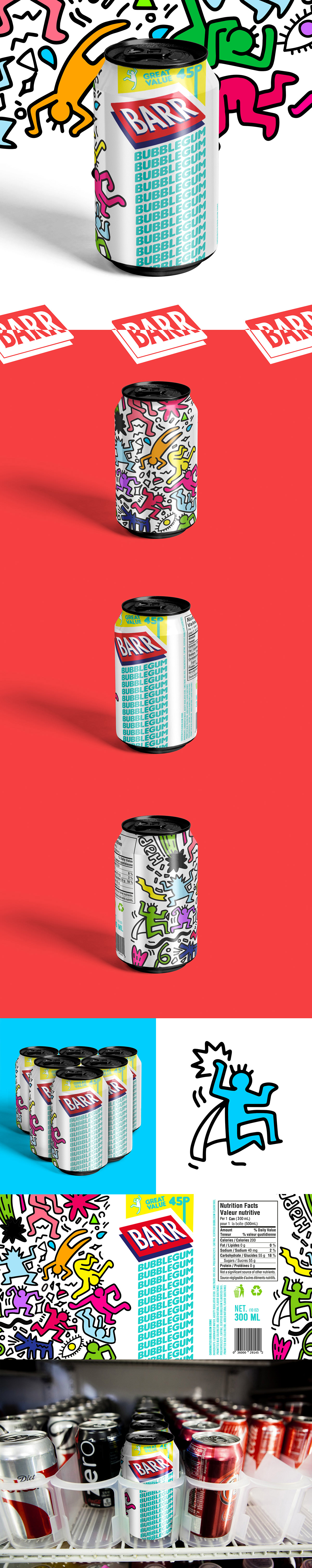 can drink Packaging bubblegum barr cola egypt Label Character creative