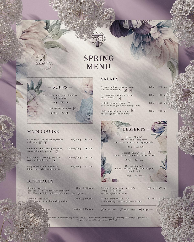 foodmenu menu menu design restaurant menu springmenu