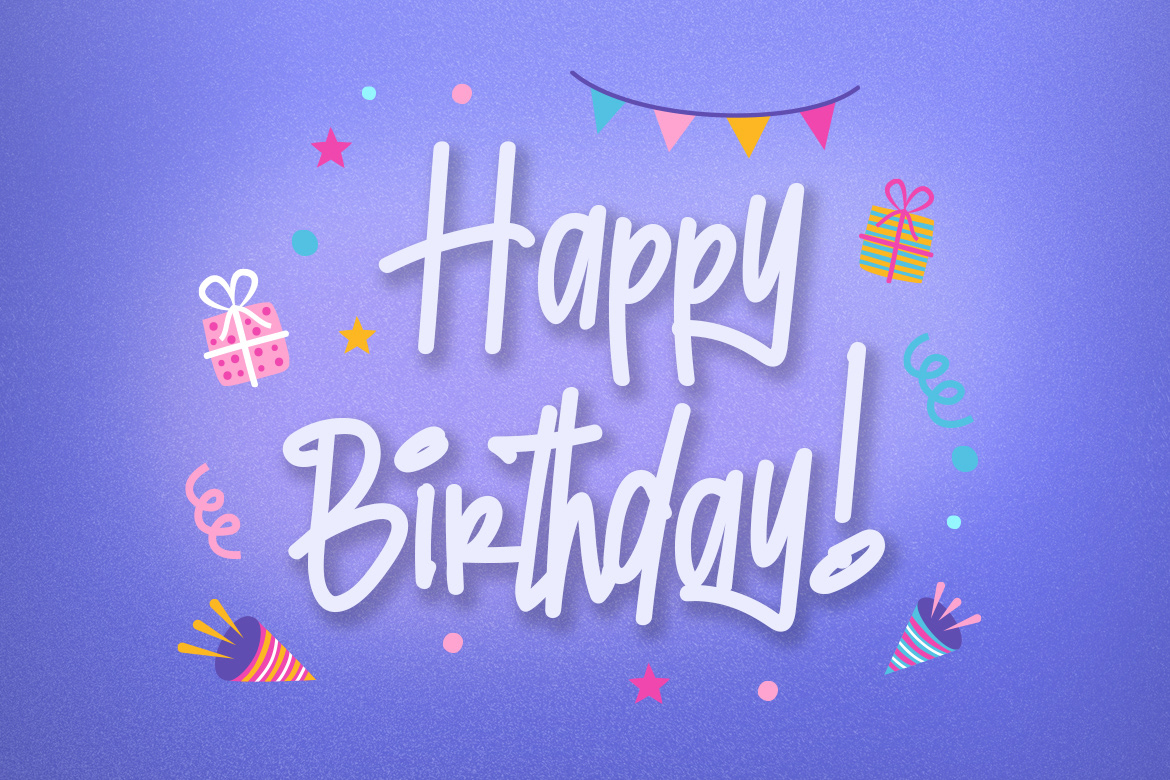 birthday card birthday invitation corporate font Fun hand drawn Playful poster Quotes typography