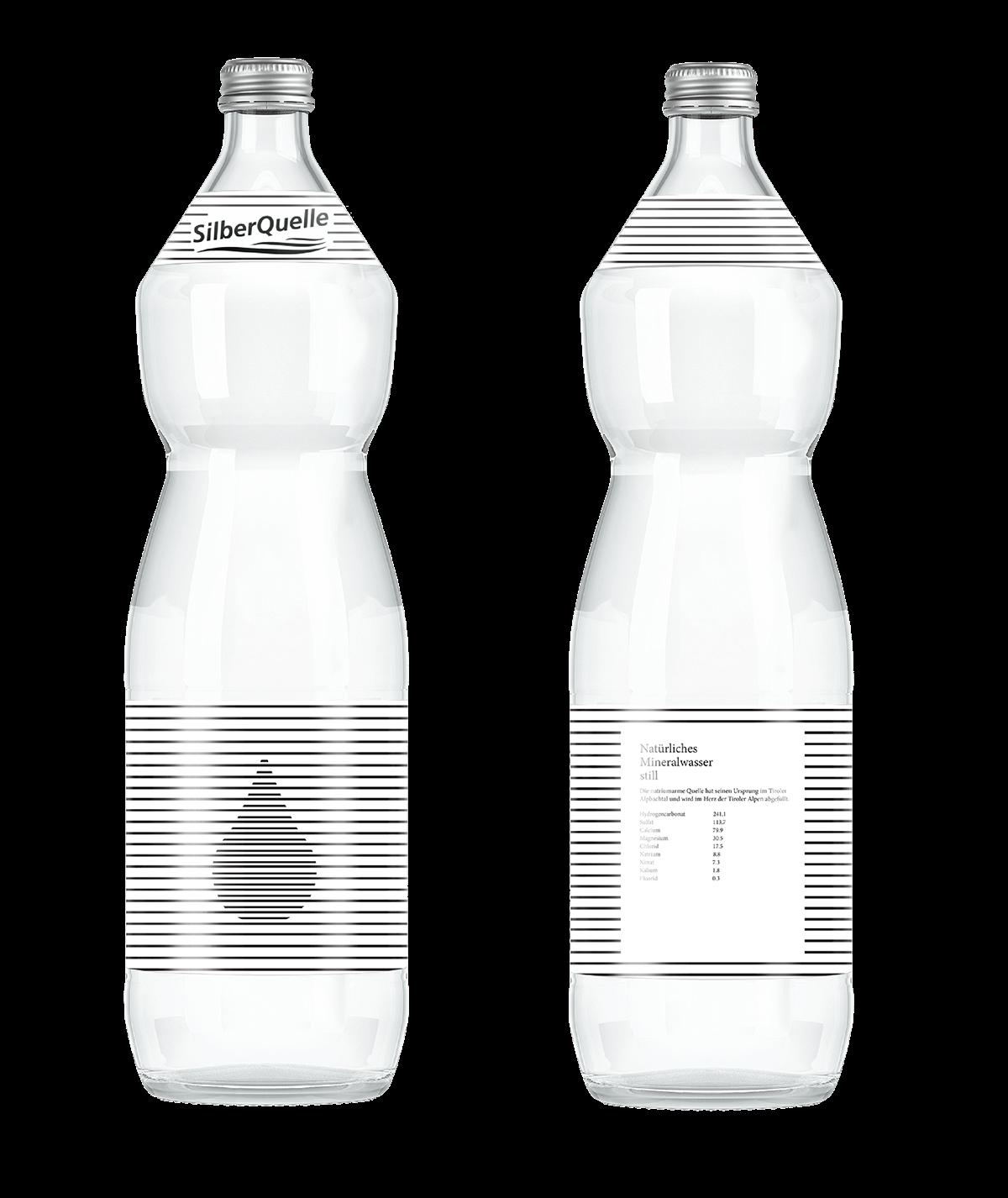 Silber Quelle Water Packaging Design On Behance