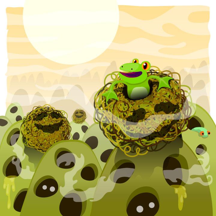 Inkology frog moss children's