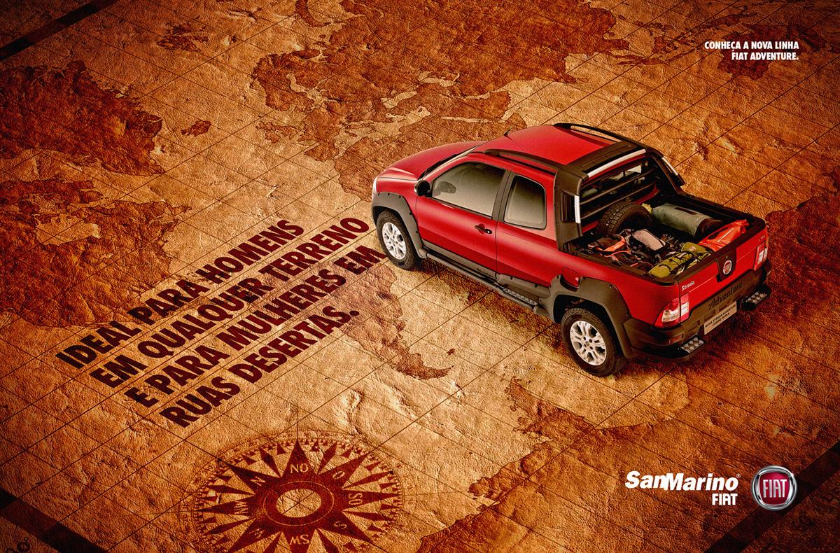 fiat car adventure Off-Road ad