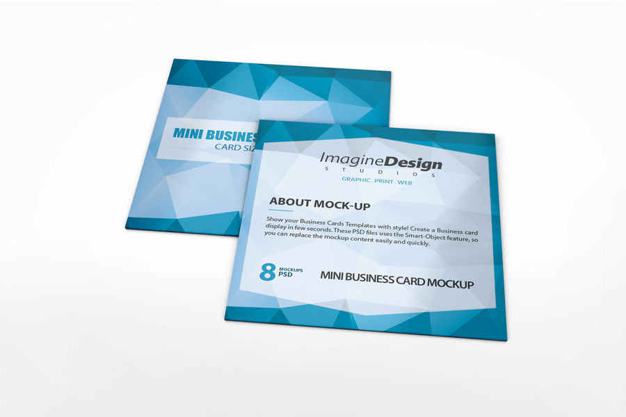 Mini business card mockup on behance accmission Gallery