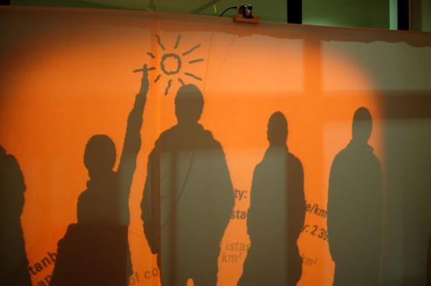 shadow interactive art processing experiment