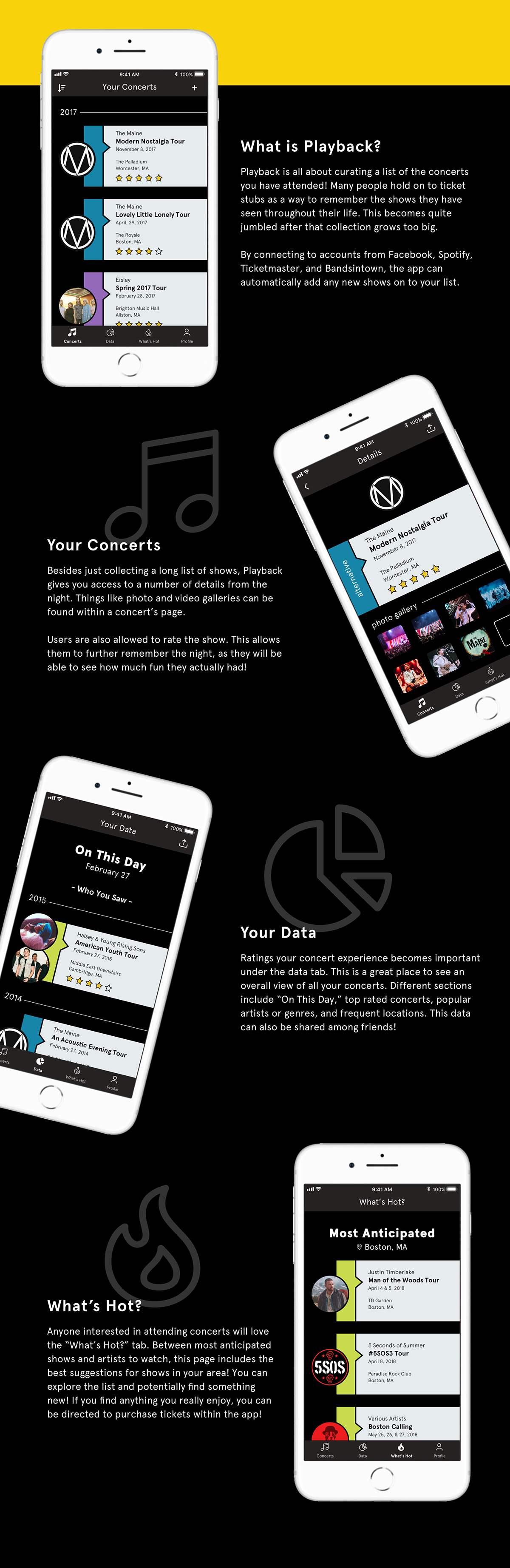Playback App on MassArt Portfolios