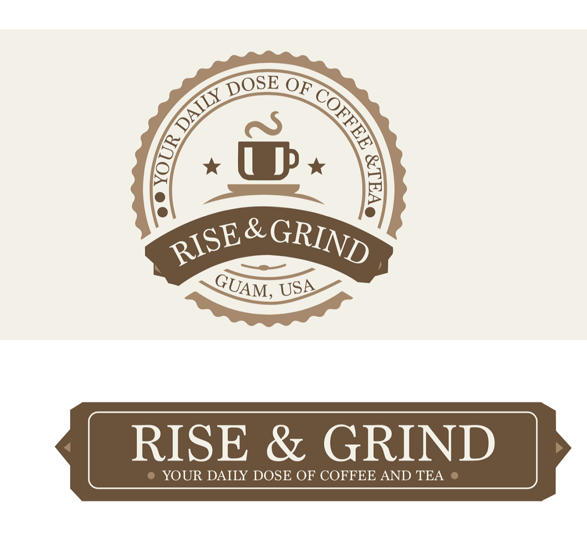 Rise Grind Coffee Shop Class Project On Behance