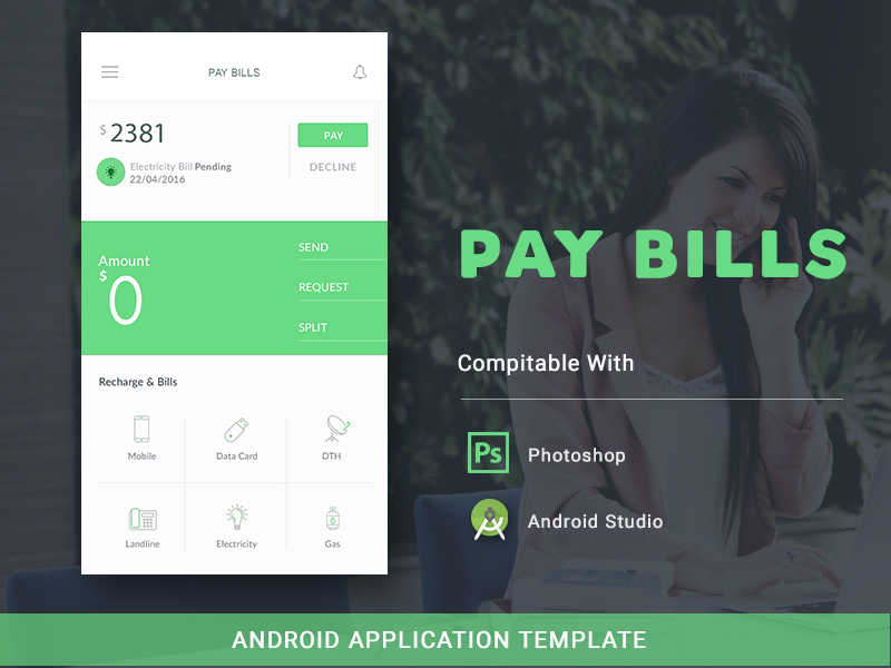 Pay bills android template on behance pronofoot35fo Images