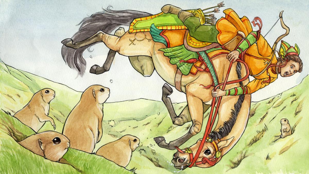 Watercolours,fantasy,Digital Art ,bronze age,Prehistory,#deer,watercolors,watercolor,line art,Drawing