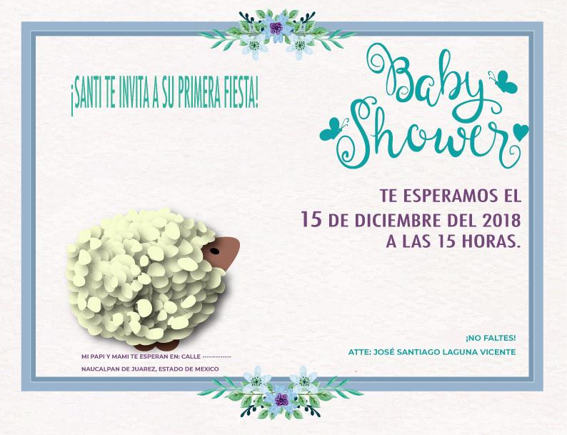 babyshower Invitation lamb baby kids Adobe Portfolio