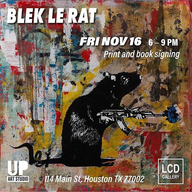 #socialmedia   artshow blek le rat