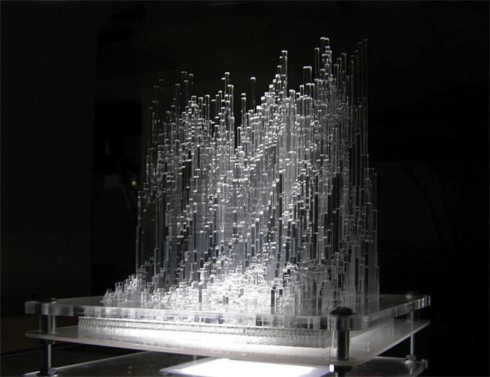 Adobe Portfolio lighting sculpture bird song bird nightingale light acrylic lasercutting