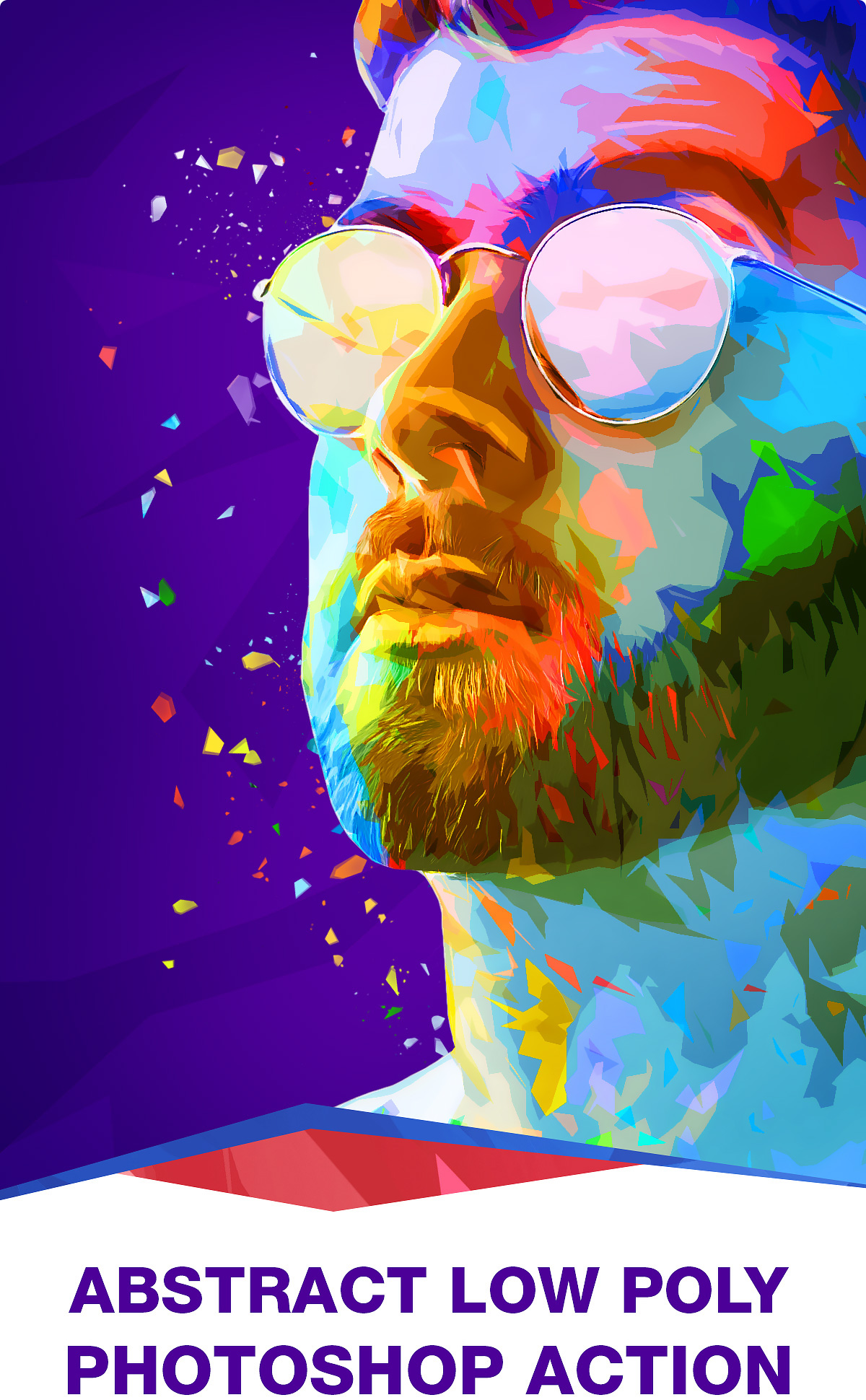 Photoshop Action -Abstract Low Poly on Behance