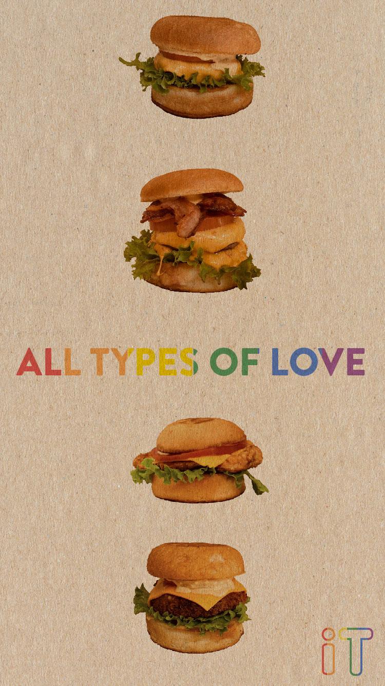 Image may contain: fast food, hamburger and food