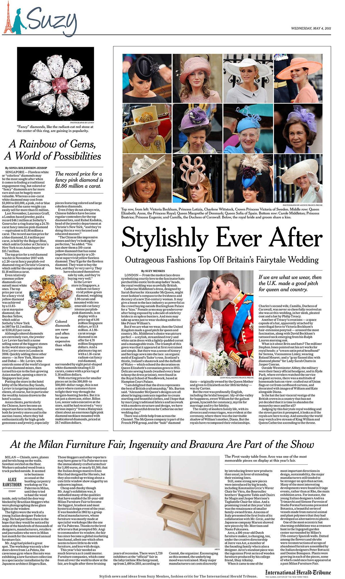 Suzy menkes nyt photo editor on behance from the weekly nyt branded suzy menkes broadsheet lead photo editor collaborated on design and layout izmirmasajfo