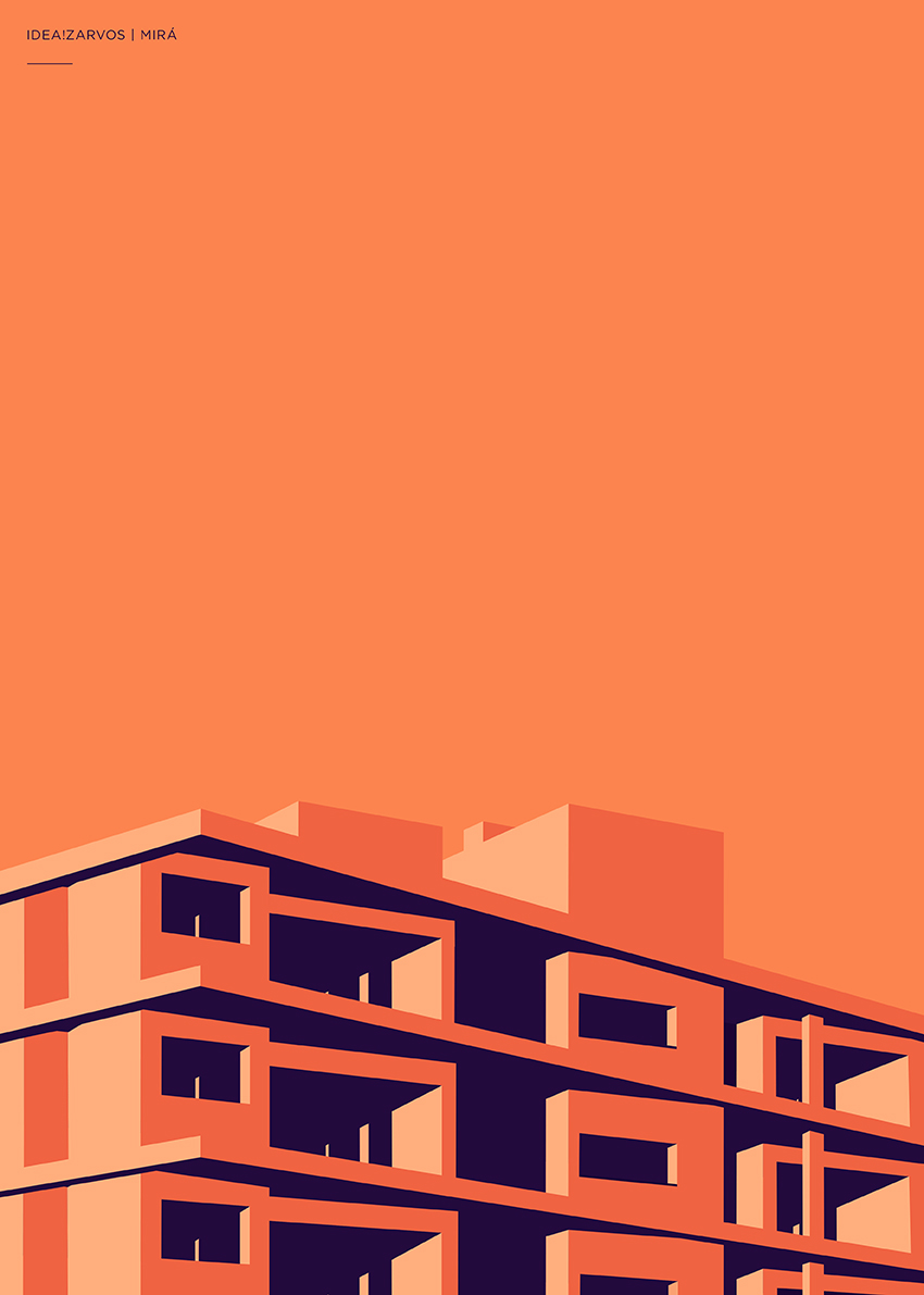 idea!zarvos Isay Weinfeld cityscapes são paulo SP colors colours Cores flat vector light