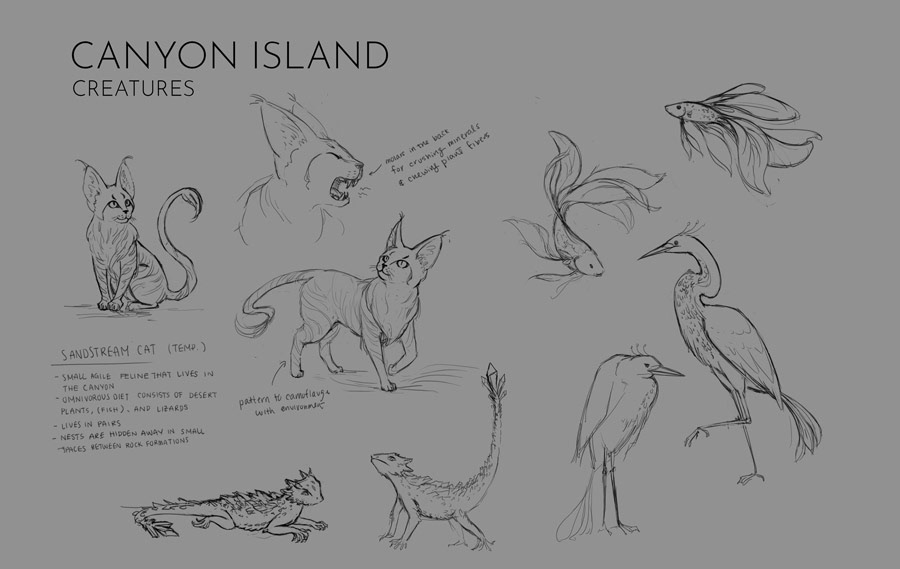 Canyon Island Creatures