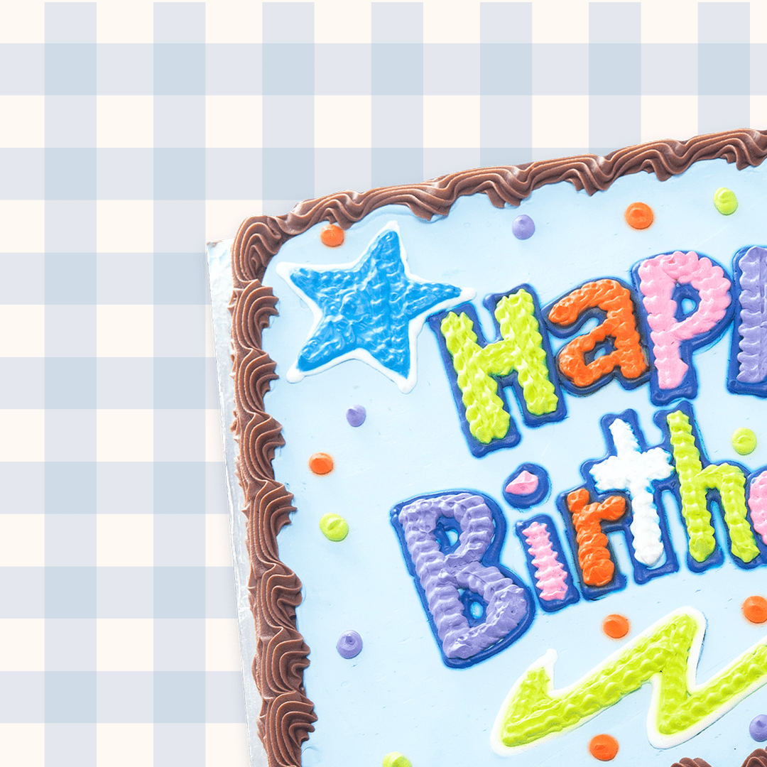 Image may contain: birthday cake