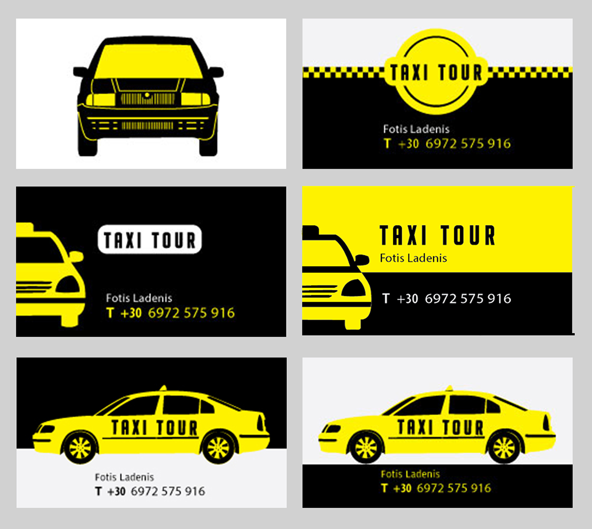 Taxi Business Card on Student Show