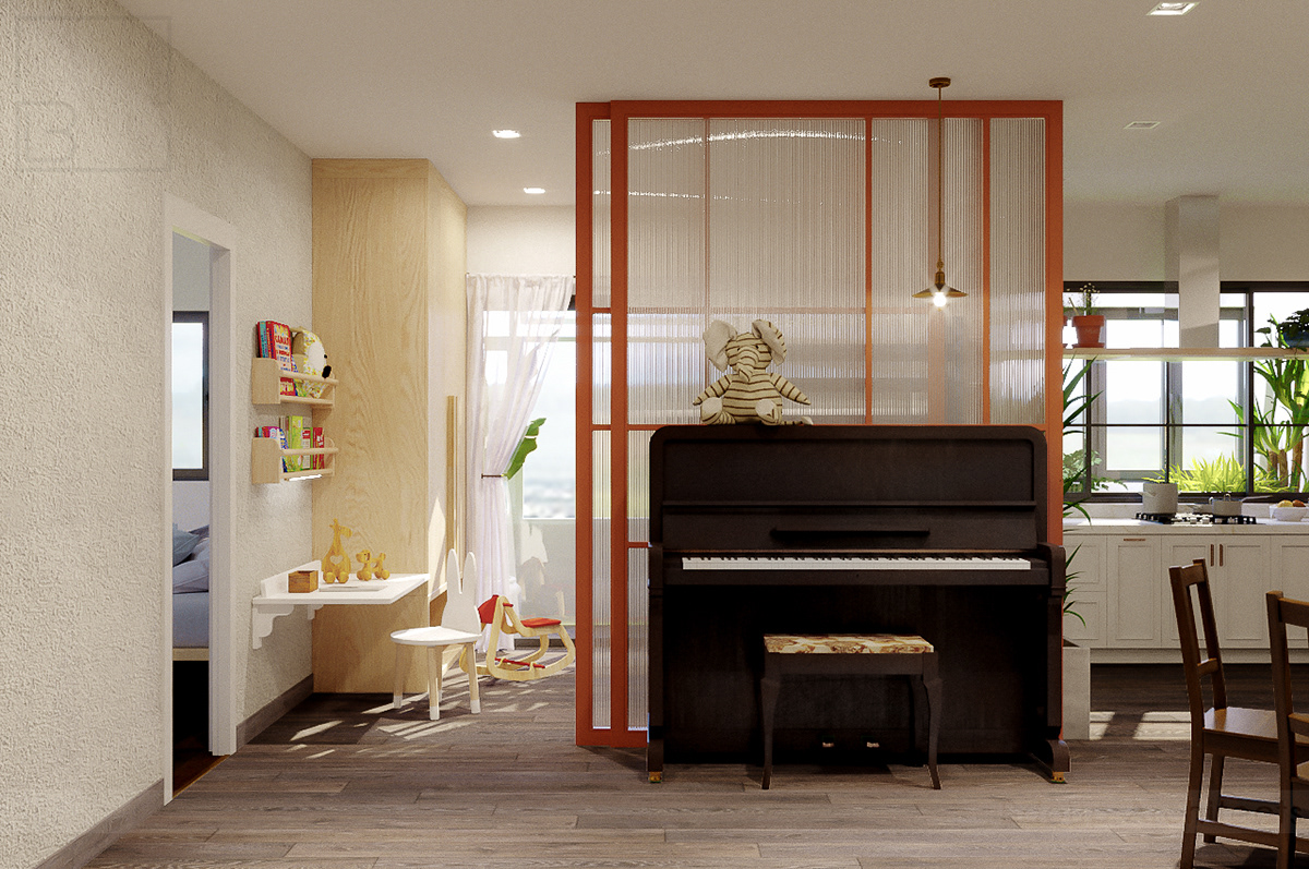 Image may contain: piano, floor and wall