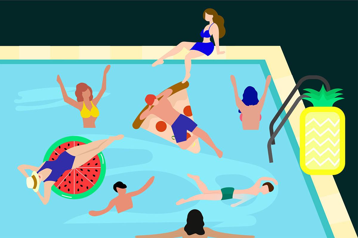 Image may contain: cartoon and swimming