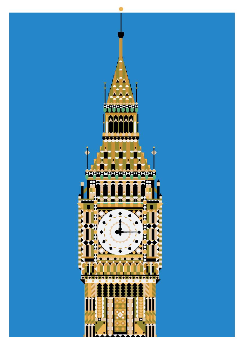 Geometric landmarks on behance for 3 famous landmarks