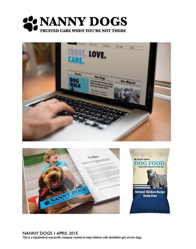 Nanny Dogs Student work Service Dogs dogs art design Web