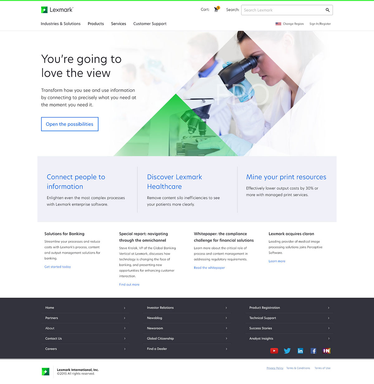 Lexmark redesign