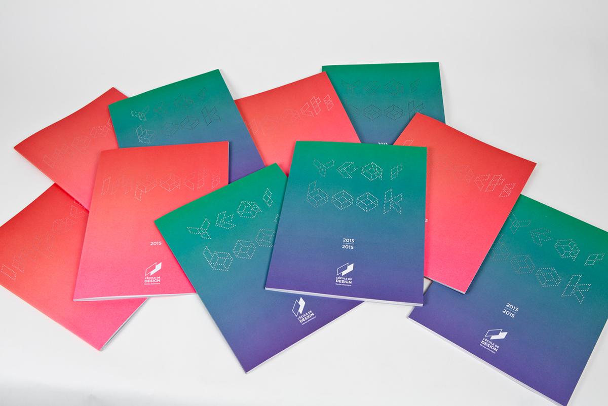 edition Typographie design coulorful vert violet perforation laser