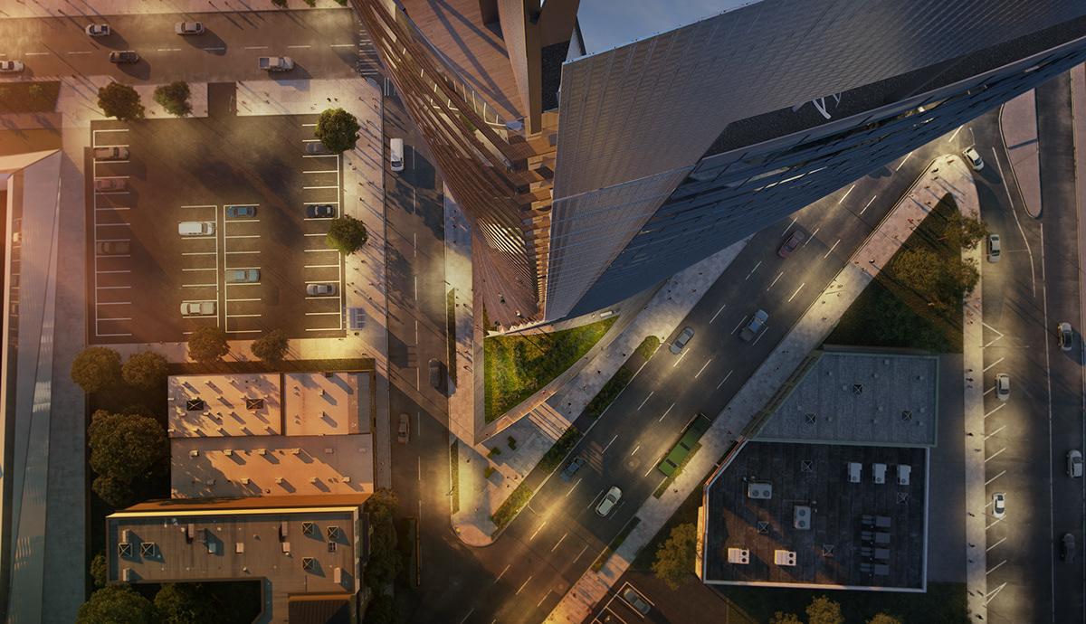motiv motyw podwojewski seattle architecture rendering archviz Perkins+Will skyscraper residential