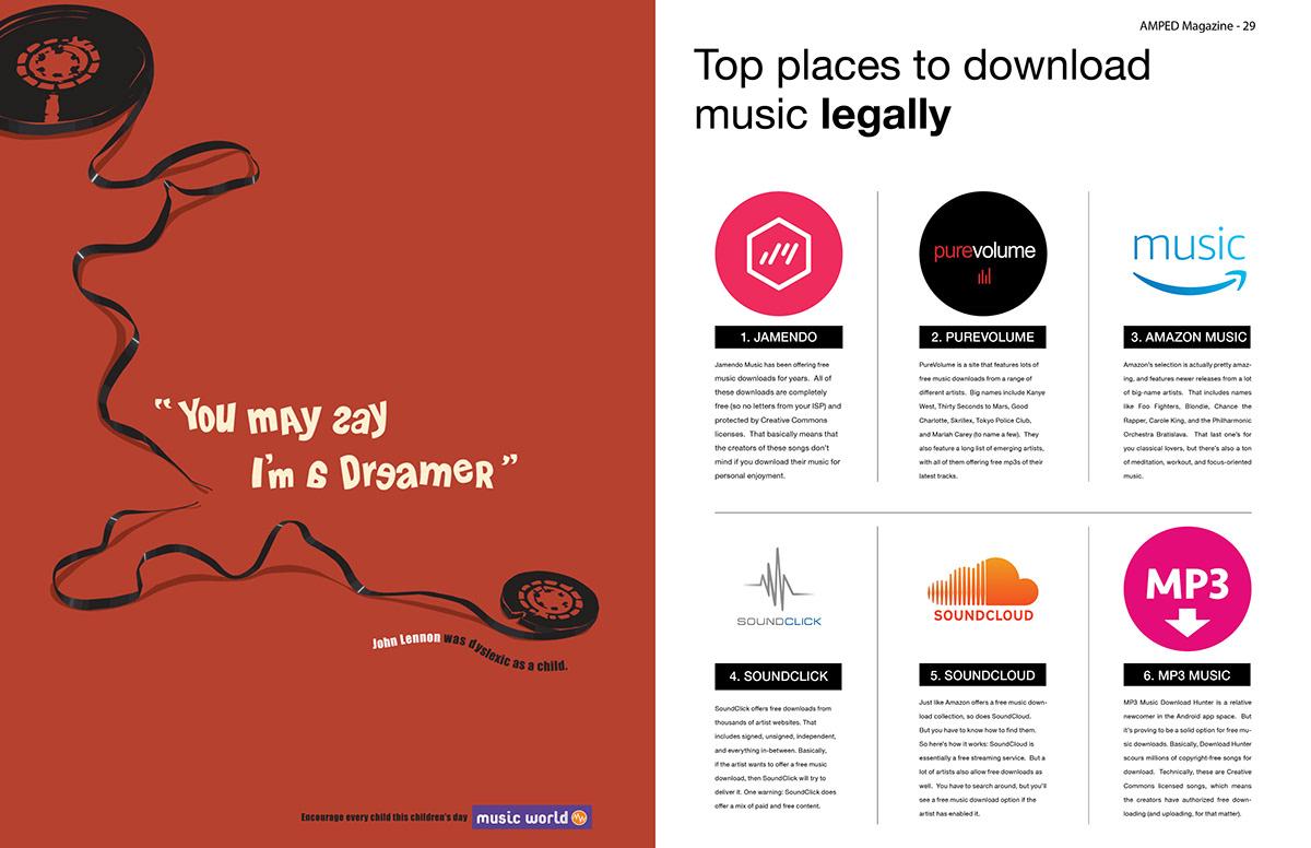 AMPED Magazine on Behance