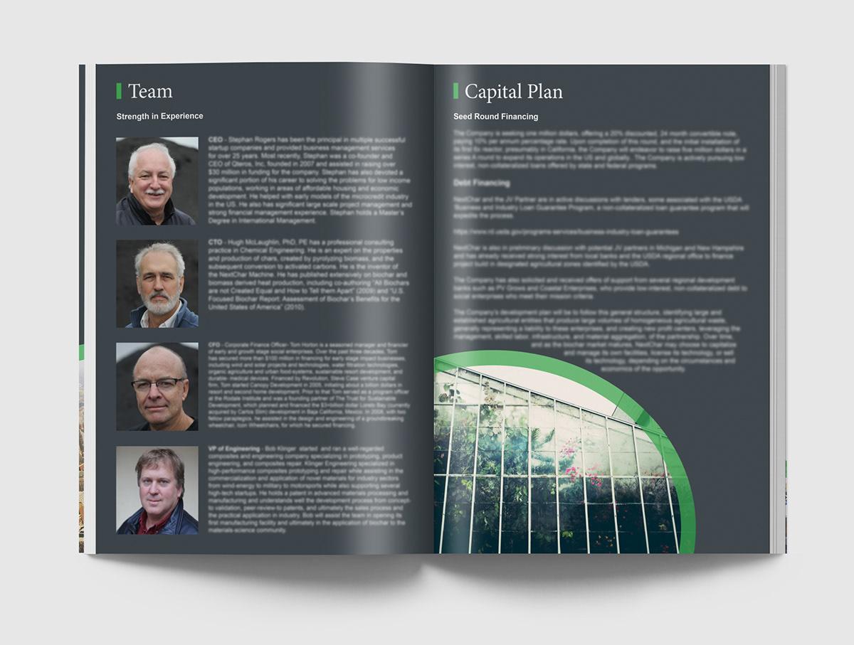 brochure magazine organic green enviroment minimal print