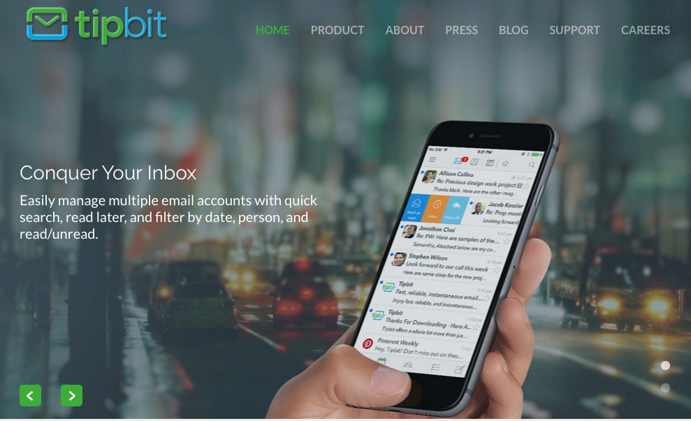 mobile email Interface