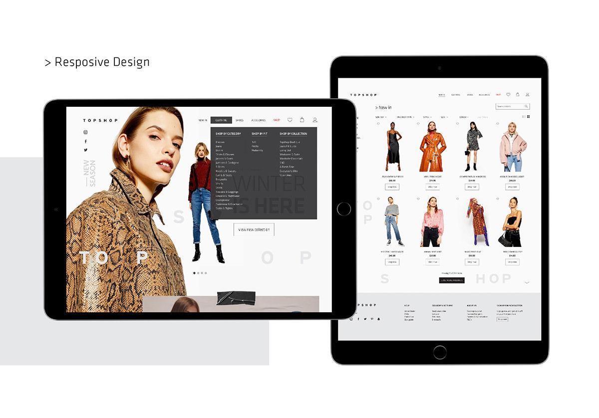 Fashion  Web Topshop Web Design  design graphic design