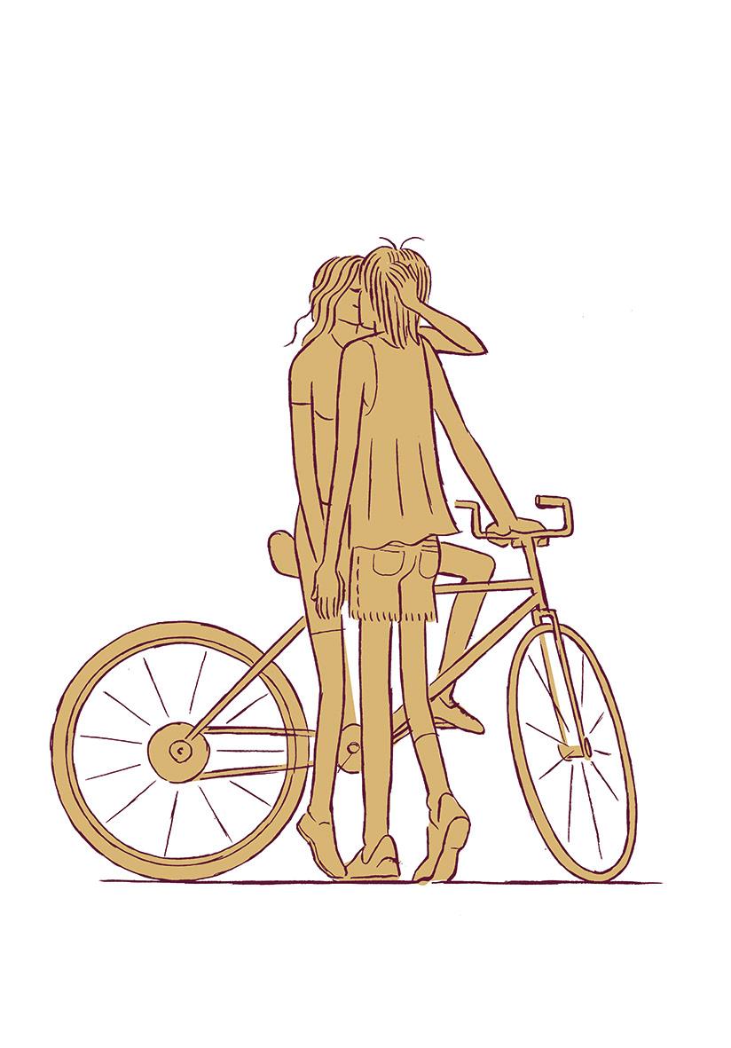 Bicycle ILLUSTRATION  Love