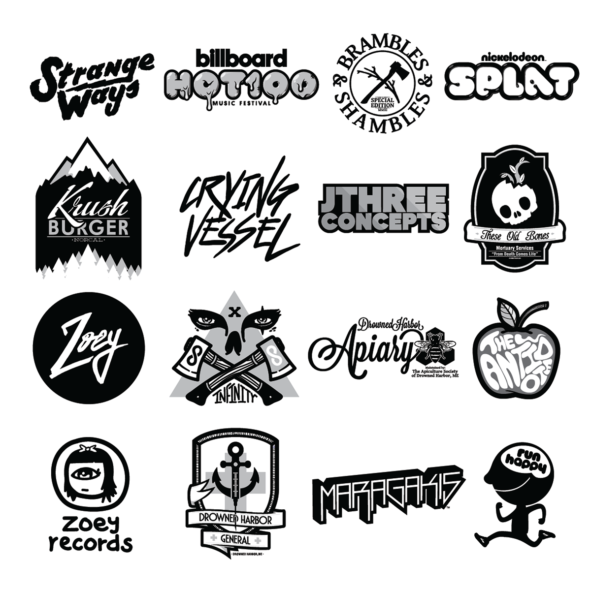 logo design vector nickelodeon krush burger Blood Sweat crying vessel ubisoft Zoey dead astronauts billboard hot 100 jthree concepts