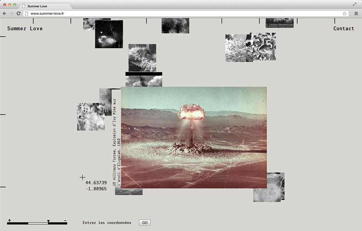 explosions explosion boom transmedia Webdesign map Original navigation