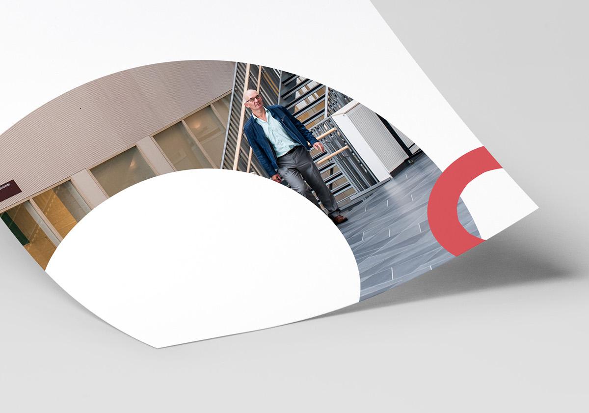 identity heart Nederland flat design branding  hospital healthcare