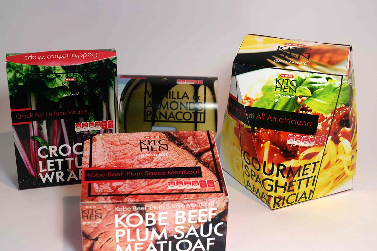 H.E.B gourmet packagin