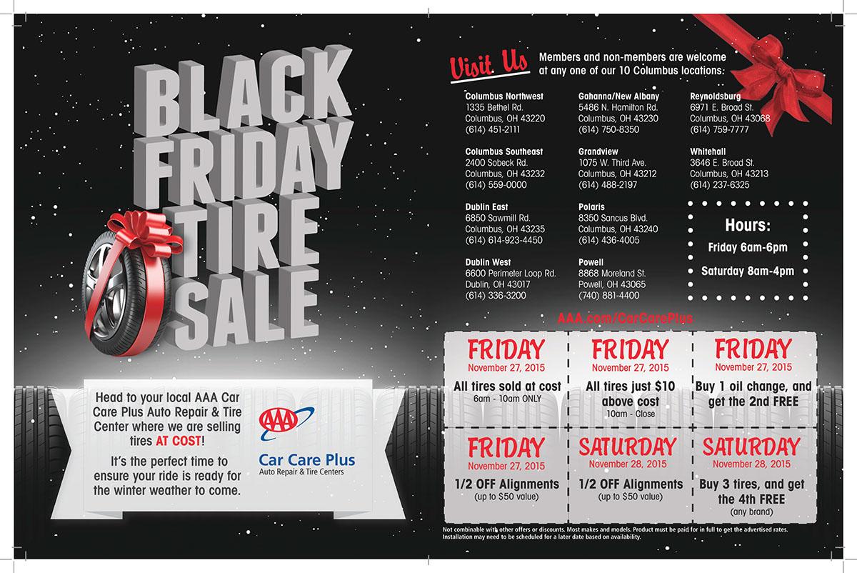 Aaa Black Friday Tire Sale Ad 2015 On Behance