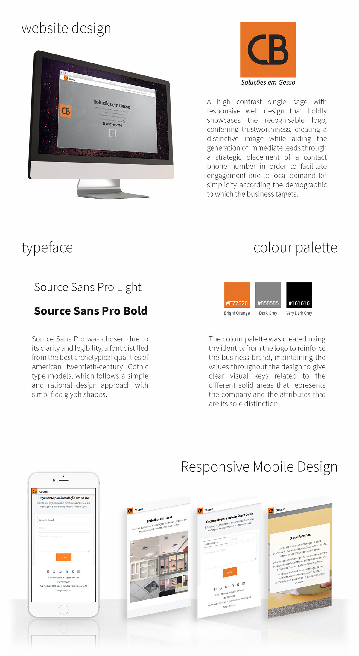 cbgesso gesso plaster Website UI ux Responsive mobile Webdesign design