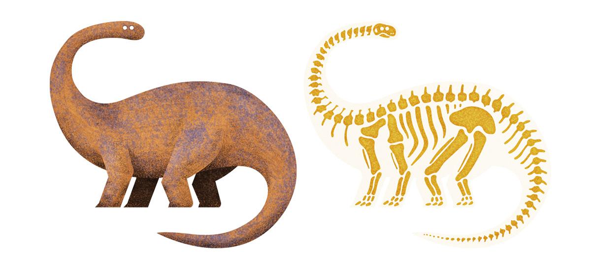 ILLUSTRATION  dinos dinosaurs Dinosaurios ilustracion cartoon stickers pegatina pegatinas product